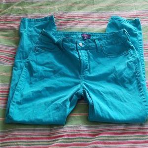 NYDJ turquoise cotton Jean 8